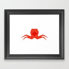 Origami Crab Framed Art Print