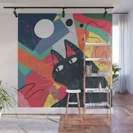Trumpet Cat Wall Mural