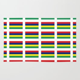 Flag of Mauritius – maurice,mauricien,port-louis,mauritian,rodrigues,creole,dodo,indian ocean Rug