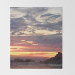 Tofino Pink Sunset Throw Blanket