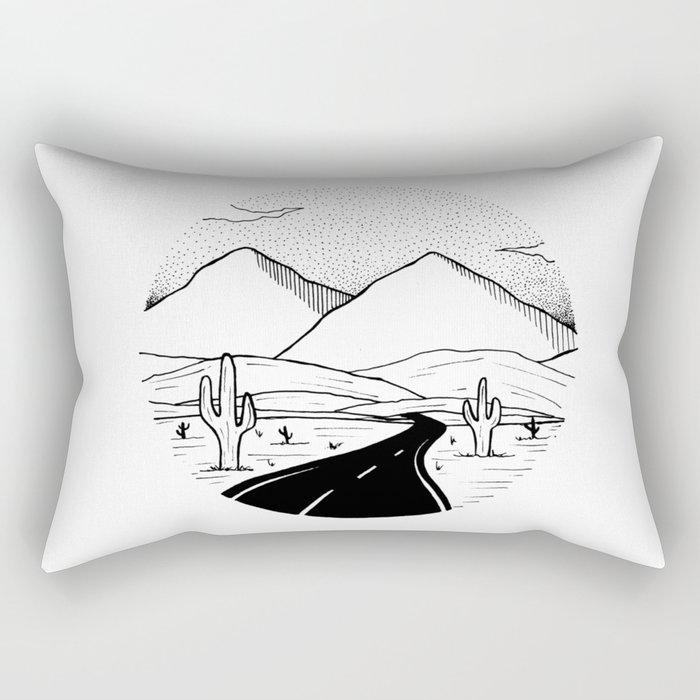 On the way to the desert Rectangular Pillow