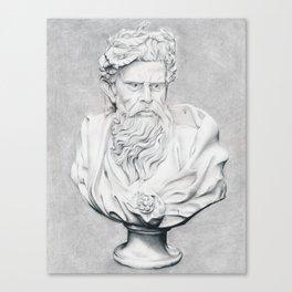 Zeus Bust Sculpture Canvas Print