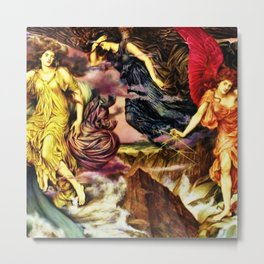 The Storm of Spirits by Evelyn De Morgan Metal Print