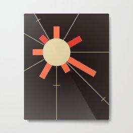 paper sun || charcoal Metal Print