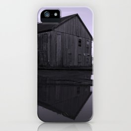 Warehouse Reflection in Lavender iPhone Case