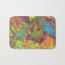 Acrylic Pouring #5 Bath Mat