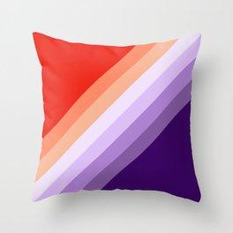 Retro diagonal stripes Throw Pillow