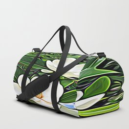 White Flowers of the Purest Essence Duffle Bag