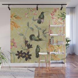 Yellow Hummingbird Wall Mural