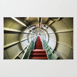 industrial stairway Rug