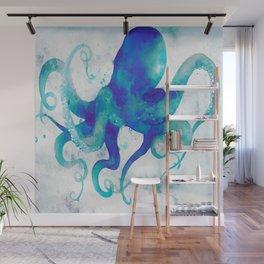 Octopus Watercolor Wall Mural