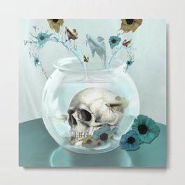Looking glass skull Metal Print