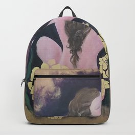 Shared Beauty Under the Golden Moon Backpack