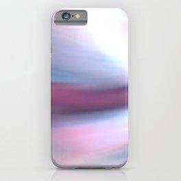 Pink Blue Sensory Reflection on Fabric iPhone Case