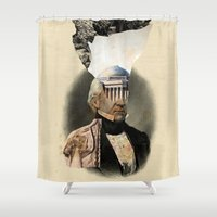 warrior Shower Curtains featuring Warrior by DIVIDUS DESIGN STUDIO