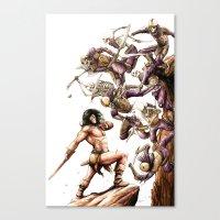 conan Canvas Prints featuring Conan the Barbarian by Adam Rosenlund