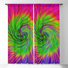 Psychedelic Swirl Blackout Curtain