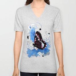 Butterfly III ink by carographic, Carolyn Mielke Unisex V-Neck