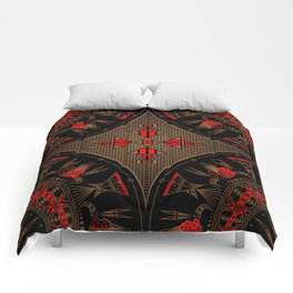 buffalo gathering Red Comforters