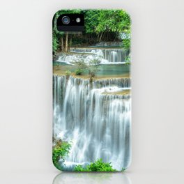Huay Mae Kamin Waterfall Mae Kra Bung Si Sawat District Kanchanabu Ultra HD iPhone Case