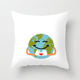 No Planet B - Earth Day Throw Pillow