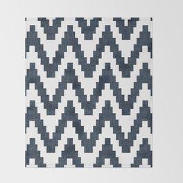 Twine in Navy Blue Throw Blanket