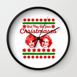 Golden Girls Christmas Wall Clock