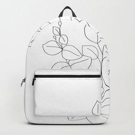 Minimalistic Eucalyptus  Line Art Backpack