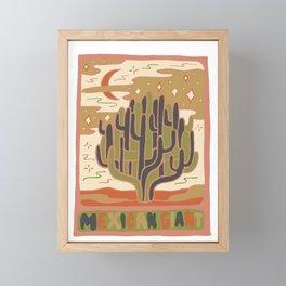 Cactus Tarot Cards- Mexican Giant Framed Mini Art Print