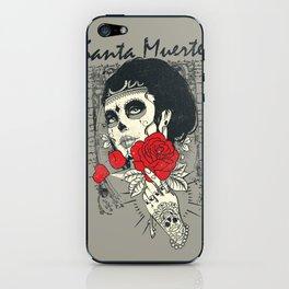 Santa muerte Rose iPhone Skin