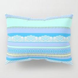 Beach House Blue Surf Pillow Sham