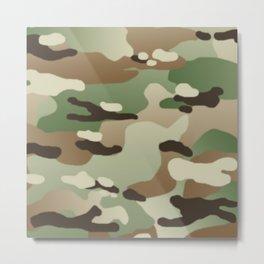 Military Camouflage: Woodland Metal Print