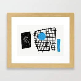 a graphic montage Framed Art Print