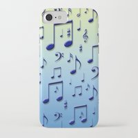 music notes iPhone & iPod Cases featuring Music notes by Gaspar Avila