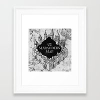 marauders Framed Art Prints featuring Marauders Map by bimorecreative