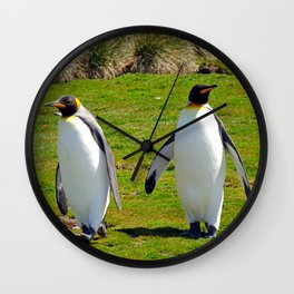 King Penguins Wall Clock