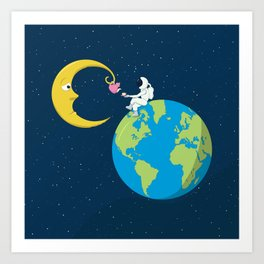 Talk to the Moon Art Print