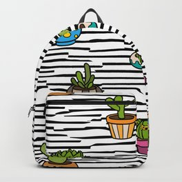 Cacti Pattern Backpack