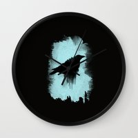 raven Wall Clocks featuring Raven by TwO Owls