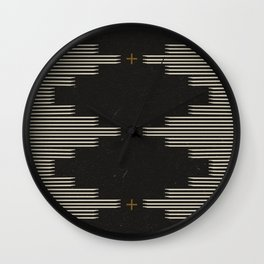 Southwestern Minimalist Black & White Wall Clock