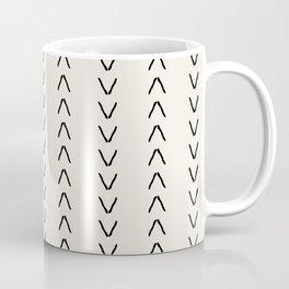 Mudcloth Arrows Beige Coffee Mug