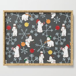 Beary Winter Serving Tray