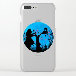 Alice In Wonderland Blue Moon Clear iPhone Case