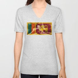 Sri Lanka Flag Unisex V-Neck