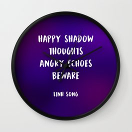 Keeper quote Wall Clock