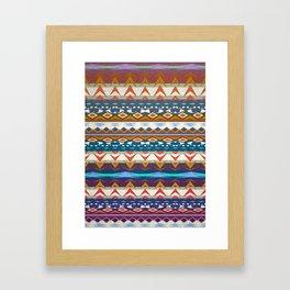 Aztec Geometry Framed Art Print