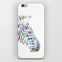 zebra iPhone & iPod Skins featuring Zebra by NKlein Design