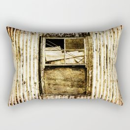 Window in a tin wall Rectangular Pillow