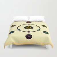 hyrule Duvet Covers featuring Hyrule Macrocosmica by Jude Buffum