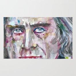 FRANZ LISTZ - watercolor portrait.1 Rug